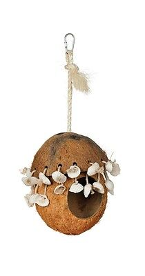 Prevue Pet Products Naturals Coco Hideaway with Shells Bird Toy