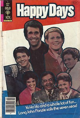 HAPPY DAYS #4 - Gold Key - TV photo cover