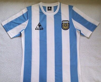 1986 Argentina home retro soccer football shirt jersey