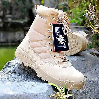 Men's Tactical  Desert Boots Outdoor Military Combat Army Training  Anti skid