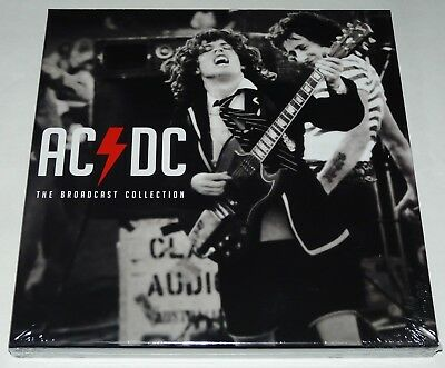 AC/DC The Broadcast Collection LP Limited Triple Clear Vinyl Deluxe Boxset - New