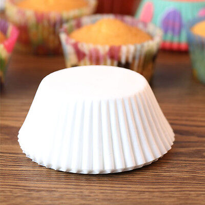 Solid Color White/Coffee Baking Muffin Cupcake Paper Cups Liner Wrapper 100pcs