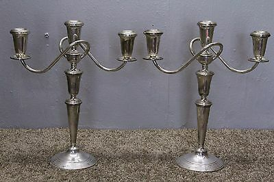 Art Nouveau Style Sterling Candle Holder / Candlesticks