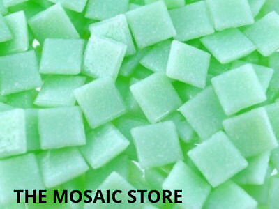 Light Green 1cm Vitreous Mosaic Glass Tiles - Art Craft Supplies