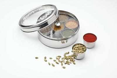 Indian Cooking Stainless Steel Masala Dabba Curry Spice Tray Storage Dish Box
