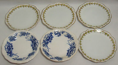 Mixed Lot Of 6 Vintage Porcelain Ceramic Butter Pat Dishes Bavaria