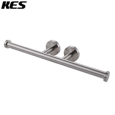KES Bath Double Roll Toilet Paper Holder Wall Mount,Brushed Stainless,BPH202S2-2
