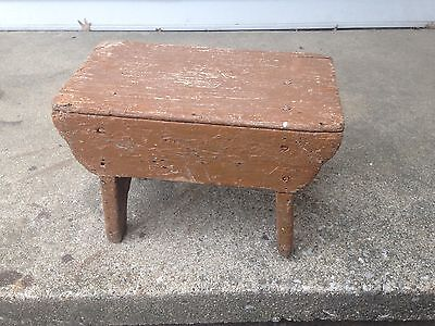 antique milking stool Chippy Paint Shabby Chic Collector Primitive Decor