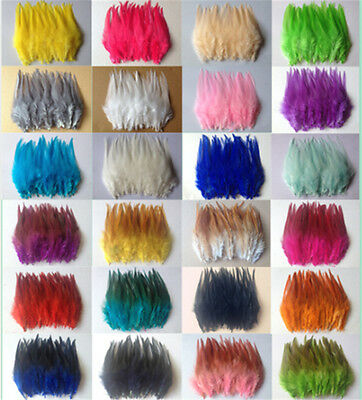 Wholesale 50/100pcs beautiful rooster tail feathers 10-15cm/4-6inches 28 Colors