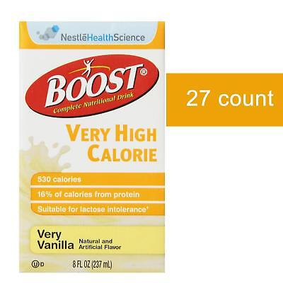 NEW Boost Very High Calorie Very Vanilla 27ct VCH Kosher Gluten-free Brikpack