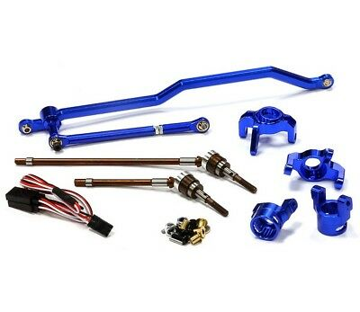 Integy 4-Rad-Lenkungs-Umrüst-Kit Axial 1/10 Wraith C24449BLUE