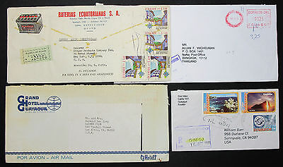 Ecuador Registered Airmail Set of 4 ADV Covers Letters Lupo R-Briefe (H-8596+