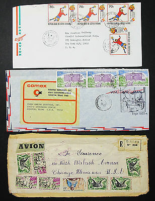 Ivory Coast Set of 3 Covers Letters Envelopes Elfenbeinküste Lupo Briefe H-8592+