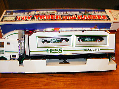 1997 Hess Tractor Trailer And Cars- Nib