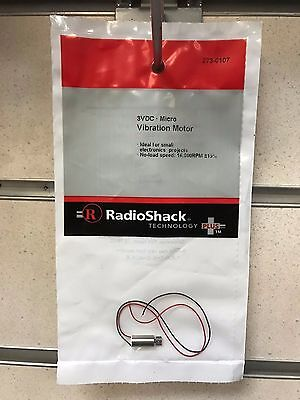 Radio Shack Micro Vibration Motor 3VDC 16,000 RPM Electronic Projects - NEW UK