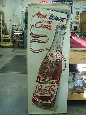 Single Dot Pepsi-Cola More Bounce To The Ounce Sign