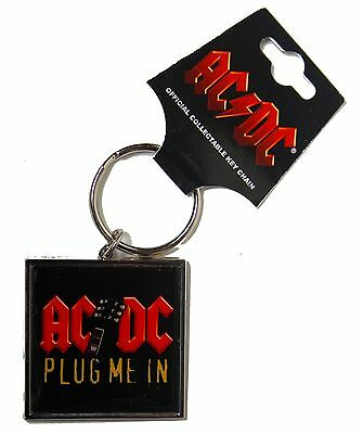 AC/DC Plug Me In Metal Keyring New & Official Band Merch