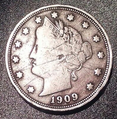 1909 5c Liberty Head V Nickel (Fine)