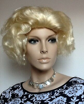 Clearance Price. Blonde  Film Star Female Fancy Dress  Wig. UK Dispatch