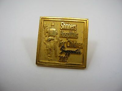 Collectible Pin: Shriners Hospitals for Children Supporter 2002