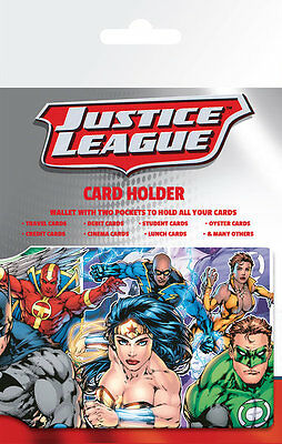 DC Comics Justice League Character Card Holder Wallet New & Official Merchandise