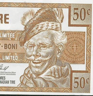 Canadian Tire Money 2007 note  50 cent
