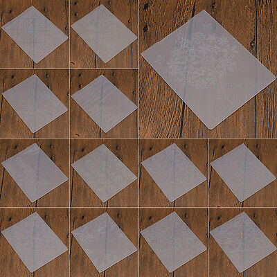Clear Embossing Folder for DIY Scrapbook Decor Card Tool Plastic Flower Template
