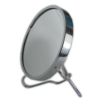 Small Double Sided Magnifying Bathroom Mirror - Make Up Cosmetic Shaving Vanity
