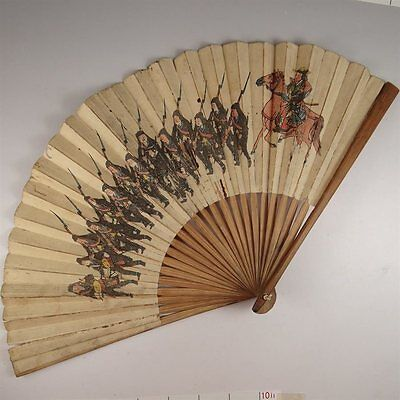 YU101 SENSU Japanese Fan Art painting Picture Traditional crafts Vintage