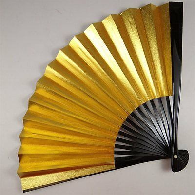 YU99 SENSU Silver Gold Japanese Fan tea ceremony Picture Traditional crafts