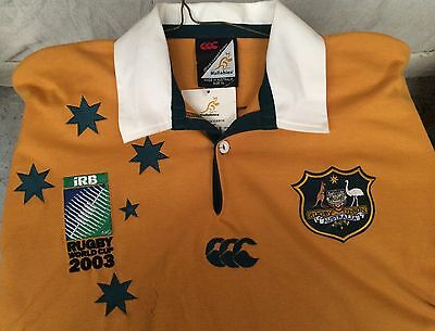 NEW XL JERSEY iRB 2003 world cup Australian WALLABIES RUGBY UNION CANTERBURY