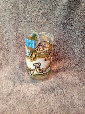 1983 Slave Leia Star Wars Return of the Jedi Glass Coca Cola Burger King Glass