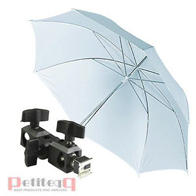 NEW Photo Flash Shoe Soft light Umbrella Holder Swivel Light Stand Bracket UK