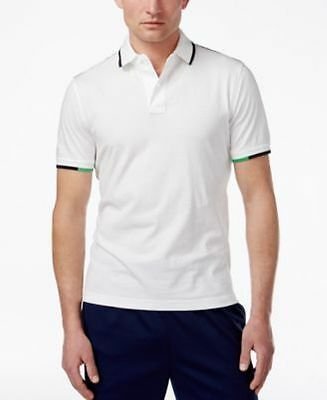 Tommy Hilfiger Mens Graham Tipped Jersey Polo Classic White SMALL