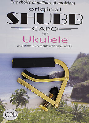 C9B Shubb Brass Ukulele Capo Latest Model Release - Made In Usa