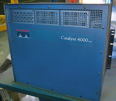 Cisco Systems Catalyst 4000 Ethernet Network Switch Chassis Rackmount (0001F)