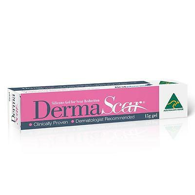 ~ Dermascar Silicone Gel For Scar Reduction 15G Gel Transparent Quick-Drying