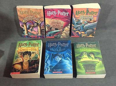 Lot of 6 HARRY POTTER Books 1-6 Paperback J K ROWLING
