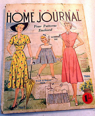 Vintage Australian Home Journal Magazine with Patterns, February 1952 (4930)