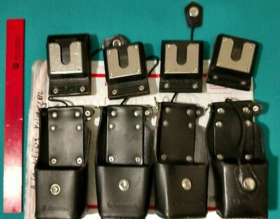 GENUINE MOTOROLA Radio Leather Holster Case XTS3000/5000 NTN8380/8381 Grd A/B