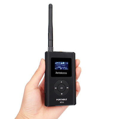 FM 76-108MHz Transmitter Radio Broadcast+Antenna for Meeting Tour Guide Training