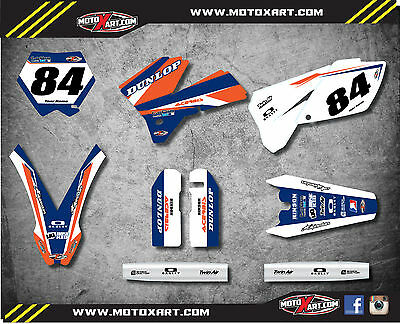 custom graphics full kit FORCE STYLE stickers to fit  KTM SX 250 2005 2006