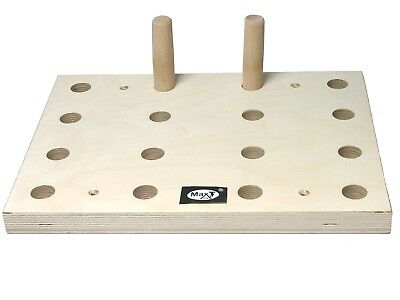 Max Gym , Climbing Hold, Training Board, Peg board climb 40cm x 30 cm