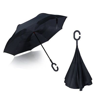 Hippih Inverted Umbrella Double Layer Windproof Protection Sun&Rain folding