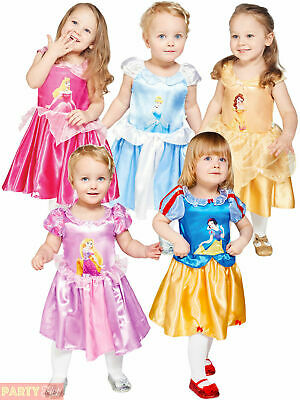 Girls Disney Princess Baby Toddler Costume Travis Design Fancy Dress Book Outfit
