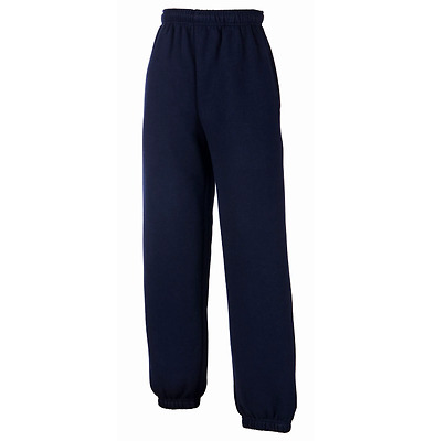 Fruit of The Loom Blue Kids Jog Jogging Bottoms Sport PE Gym School Sweat 12-13