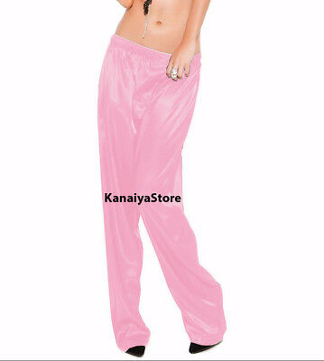 Pink Color Satin Unisex Lounge Sleep Pajama Pants Adult Women Sissy Indian Maid