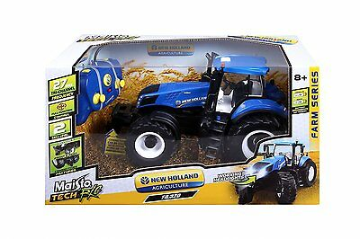 Maisto 1:16 Remote Control RC New Holland t8.320 Large Farm Tractor Toy Gift