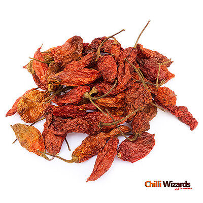 Dried Naga Bhut Jolokia Pods - Ghost Pepper Chili Highest Quality 500g