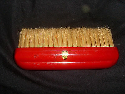 Unusual Vintage Kent Red Handle Clothes Brush